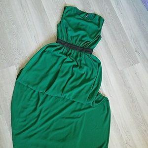 Dark Green Full Length Dress